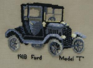 "1918 Ford Model ""T"" 1814 Center Filled Canvas"