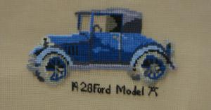 "1928 Ford Model ""A"" 1812 Center Filled Canvas"