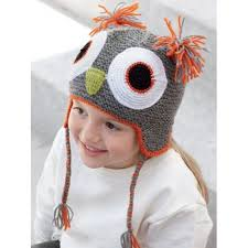 Katia Owl Hat Kit 73 Grey with Acrylic