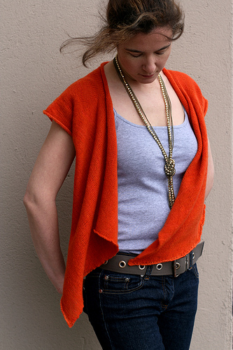 Adrift from StolenStitches.com designed by Carol Feller knit in Malabrigo Lace. Both short sleeves and 3/4 Length.